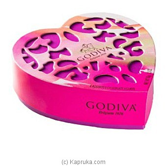 Godiva 6 Assorted Chocolate Heart Online at Kapruka | Product# chocolates00506