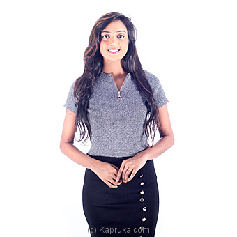 Crop Top With Zip Up Front Online at Kapruka | Product# clothing0254