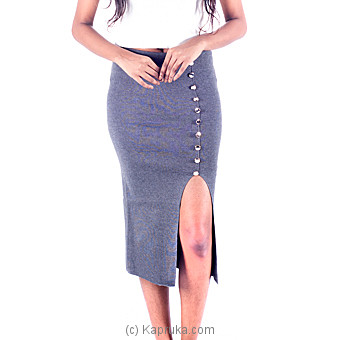 Gray Stretch Pencil Skirt Online at Kapruka | Product# clothing0255