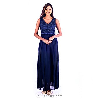 V-neck Long Prom Dress Online at Kapruka | Product# clothing0271