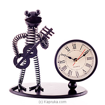 Vintage Iron Musician Table Clock Online at Kapruka | Product# ornaments00434