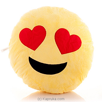 Smiling Face With Heart Eye Emoji Pillow Online at Kapruka | Product# softtoy00414