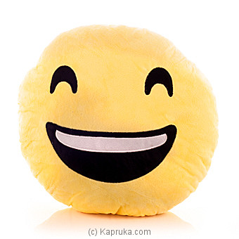 Emoji Cushion - Smiling Face With Open Mouth And Smiling Eyes Online at Kapruka | Product# softtoy00418