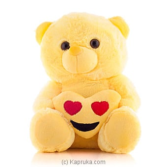 Cuddly Teddy With Smiling Face With Heart Eye Emoji Online at Kapruka   Product# softtoy00421