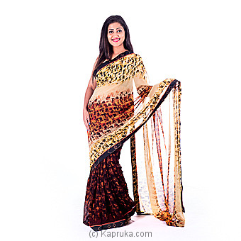 Lotus Designer Saree at Kapruka Online