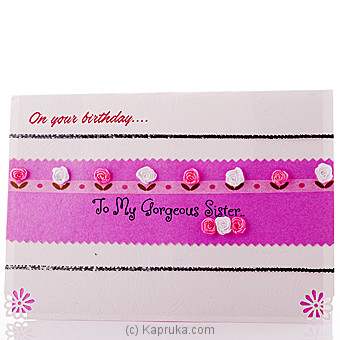 Happy Birthday Sister Popup Card Online at Kapruka | Product# greeting00Z1226