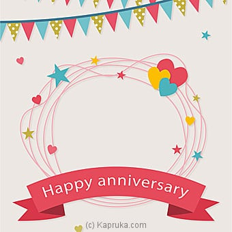Anniversary Greeting Card Online at Kapruka | Product# greeting00Z1229