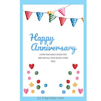 Anniversary Greeting Card Online at Kapruka | Product# greeting00Z1272
