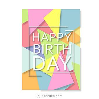 Birthday Greeting Card Online at Kapruka   Product# greeting00Z1276
