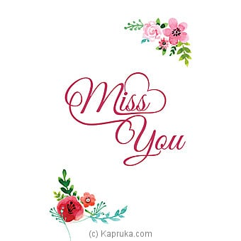 Miss You Card Online at Kapruka | Product# greeting00Z1295
