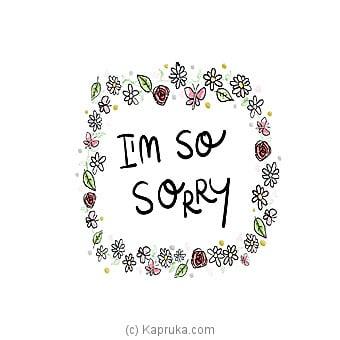 I Am Sorry Card Online at Kapruka | Product# greeting00Z1297