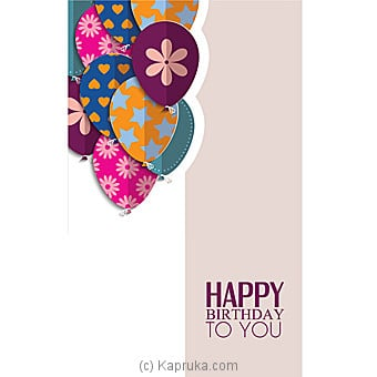 Birthday Greeting Card Online at Kapruka | Product# greeting00Z1331