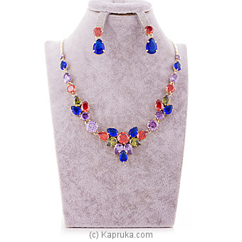 Colorful Jewelry Set ( Necklace And Earrings Set) Online at Kapruka   Product# jewllery00SK507