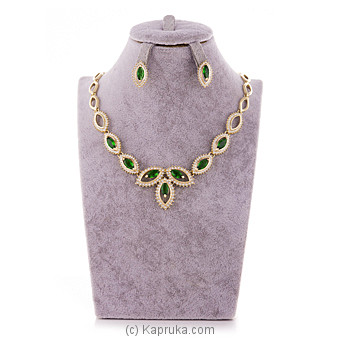 Crystal Stone Jewelry Set ( Necklace And Earrings Set) at Kapruka Online