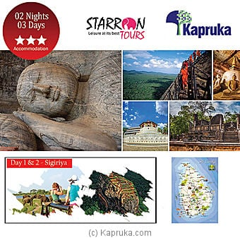 Tour To Sigiriya Package for 2 guests Online at Kapruka   Product# giftV00Z118_TC1
