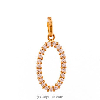 22K Gold Pendant Set With 23 (c/z) Rounds at Kapruka Online for specialGifts