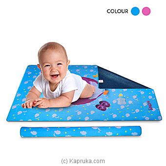 Singithi Waterproof Cot Sheet- Blue Online at Kapruka | Product# babypack00226_TC1