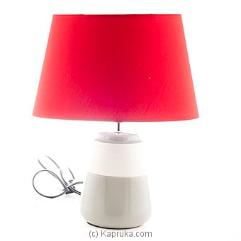 Red Ceramic Table Lamp Online at Kapruka | Product# household00227