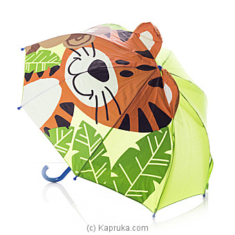 Tiger With Monkey 3D Kids Umbrella Online at Kapruka | Product# childrenP0264