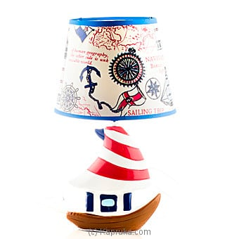 Ceramic Table Lamp Blue Online at Kapruka | Product# household00231