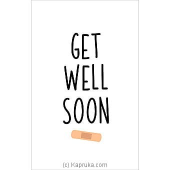 Get Well Soon Card Online at Kapruka | Product# greeting00Z1389