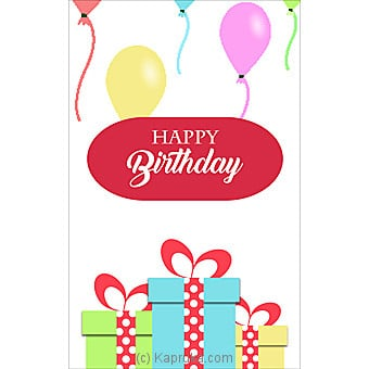 Birthday Greeting Card Online at Kapruka | Product# greeting00Z1403