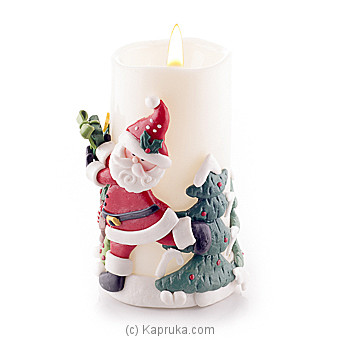 Gifts From Santa Led Candle Online at Kapruka | Product# ornaments00459