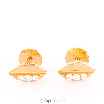 22k gold  ear stud set with 6(c/Z) rounds Online at Kapruka | Product# vouge00306