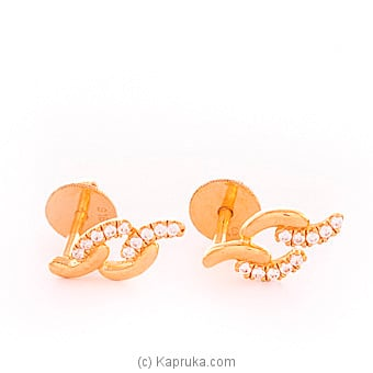 22k gold  ear stud set with 20(c/Z) rounds Online at Kapruka | Product# vouge00308