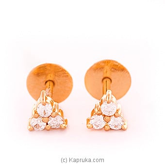 Vogue 22k gold  ear stud set with 6(c/Z) rounds Online at Kapruka | Product# vouge00310