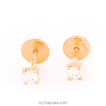 Kapruka Online Shopping Product 22k gold  ear stud set with 2(c/Z) rounds