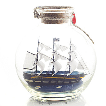Ship In A Bottle Table Ornament Online at Kapruka | Product# ornaments00472