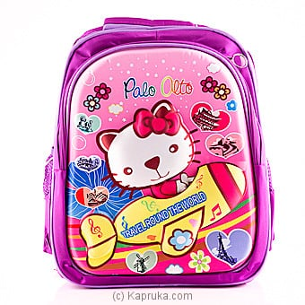 Hello Kitty 3d Cartoon Kids School Bags -  Purple at Kapruka Online for specialGifts