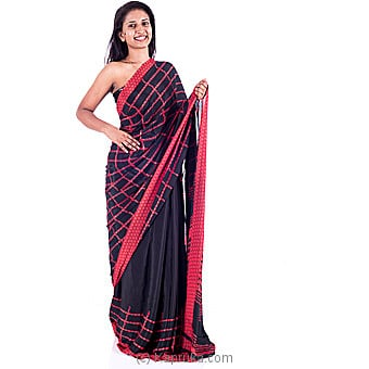 Red And Black Designer Saree Online at Kapruka | Product# clothing0338