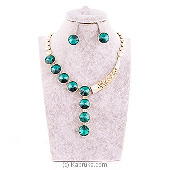 Green Crystal Jewelry Set ( Necklace And Earrings Set) Online at Kapruka | Product# jewllery00SK530