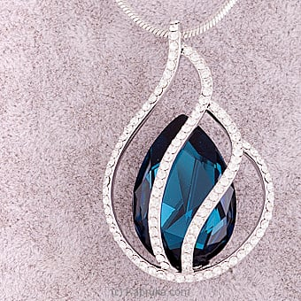 Blue Crystal Pendant With Necklace Online at Kapruka | Product# jewllery00SK523
