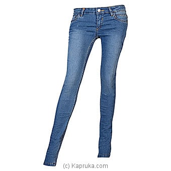 Kapruka Online Shopping Product LICC Ladie`s Light Blue Skinny Fit Jeans - Size 27