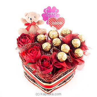 Ferrero Heart By Sweet Buds at Kapruka Online forspecialGifts