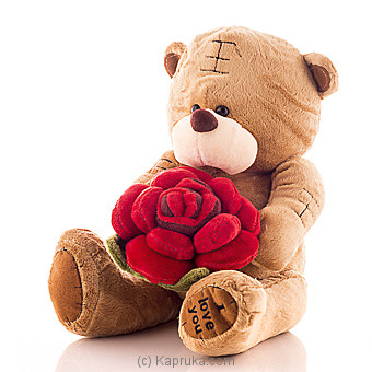 Tatty Bear With A Rose Online at Kapruka | Product# softtoy00454