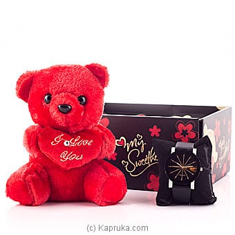 Pretty Girl Teddy With Watch Online at Kapruka | Product# softtoy00461