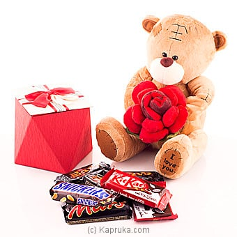 ` Shape Of You`teddy With Chocolates Online at Kapruka | Product# chocolates00584