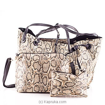 Stylish Snake Print Brown Casual Ladies Handbag Online at Kapruka | Product# fashion00578