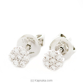 18k White Gold Earring Set (ALE 271 1.3B) Online at Kapruka | Product# alankara00145