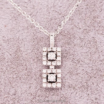 18k White Gold Pendent Set (PR 22 P 2) Online at Kapruka | Product# alankara00146