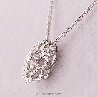 Kapruka Online Shopping Product 18k White Gold Pendent Set (A 1597)