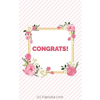 Congratulations Greeting Card Online at Kapruka | Product# greeting00Z1492
