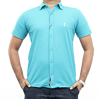 Hybrid Golf T-shirts Blue With White Design Medium Online at Kapruka | Product# clothing0395_TC1