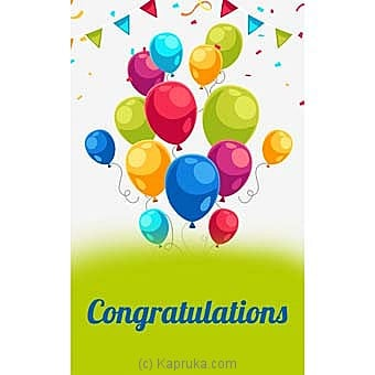 Congratulations Greeting Card Online at Kapruka | Product# greeting00Z1503