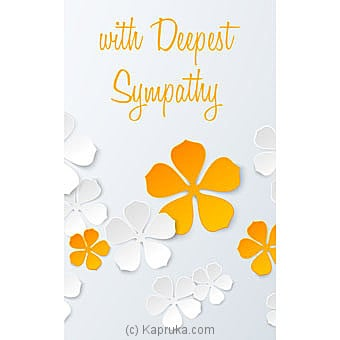 Sympathy Card..at Kapruka Online forspecialGifts