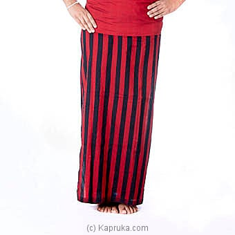 Red And Black Stripes Handloom Lungi Online at Kapruka | Product# clothing0405